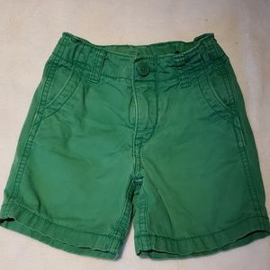 GAP - Boys Flat Front Green Shorts